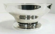 """Georg Jensen Sterling Silver Hand Hammered Bowl. Date 1933-44. 6 1/8"""" x 3"""" High #GeorgJensen #HandHammered Kitchen Aid Mixer, Antique Silver, Bowls, Sterling Silver, Antiques, Serving Bowls, Antiquities, Antique, Mixing Bowls"""