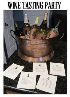 wine and appetizer party | This is my favorite idea for a wine tasting party! If you have friends ... #CampoViejo