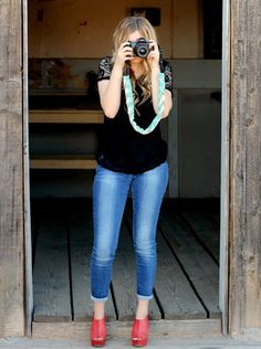 Camera Strap Cover with a pocket for your lens by Justgetpampered