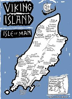 'Viking Island' illustrated map by Alice Quayle