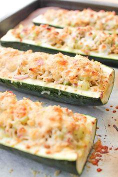 Roasted Zucchini Tuna Melts – Gluten Free