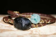 Black and Green Faceted Agate double wrap by JeannineMarieJewels, $28.00