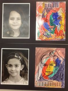 Self Portrait mixed media project. Art Camp 2013. Inspiration from Dali's Mustache.