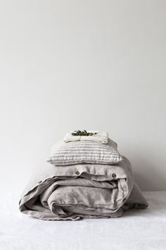 ... melange stone washed linen duvet cover ...