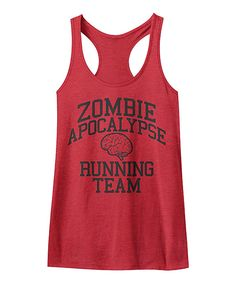 Look at this American Classics Heather Red 'Zombie Apocalypse Running Team' Tank on #zulily today!