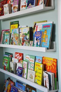 DIY Bookshelf project for children's books....putting this on the to do list!