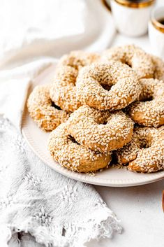 Vegan Greek Olive Oil and Orange Cookies Great Desserts, Dessert Recipes, Sesame Cookies, Greek Cookies, Vegan Greek, Orange Cookies, Greek Olives, Create A Recipe, Best Cookie Recipes