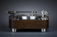 Garrard 301 Compact Dual Tonearm Plinth in Wenge by Woodsong Audio
