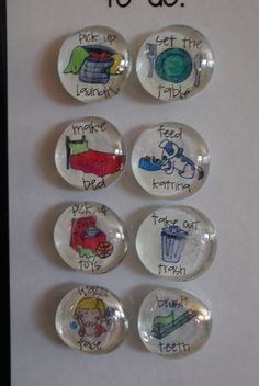 Personalized crystal magnets.