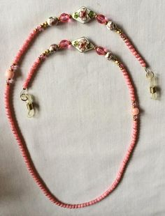 Vintage Coral Beaded Eyeglass Retainer Cord on Etsy, $430.11