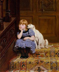 Global Gallery 'Sympathy' by Briton Riviere Painting Print on Wrapped Canvas Painting Frames, Painting Prints, Canvas Prints, Art Prints, Painting Art, Vintage Illustration, Art Graphique, Fine Art, Beautiful Paintings