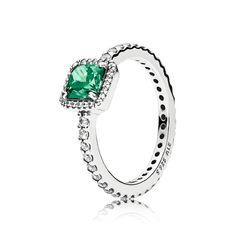 Pandora Green Timeless Elegance Ring