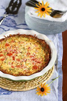 Crustless Zucchini, Corn And Tomato Quiche With Feta Recipes ...