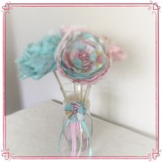 A personal favorite from my Etsy shop https://www.etsy.com/listing/231828878/shabby-chic-vase-with-teal-and-pink