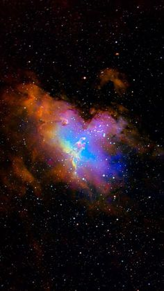 Orange, Blue and Purple Nebula