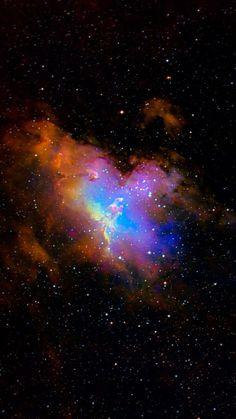 Orange, Blue and Purple Nebula