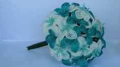 Beaded Bridal Bouquet by BeadedFleur on Etsy.  Love the colors!