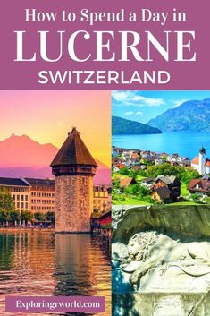 Lovely Lucerne Switzerland offers Chapel Bridge, Steuer Bridge, Musegg Wall, Lion Monument. Road Trip Europe, Europe Travel Guide, Europe Destinations, Travel Guides, Lucerne Switzerland, Visit Switzerland, Lion Monument, Central Europe, European Travel