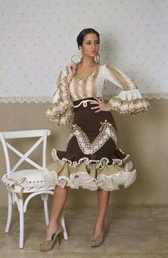 Corto Pretty Outfits, Pretty Dresses, Stylish Outfits, Beautiful Dresses, Ethnic Fashion, African Fashion, Womens Fashion, Flamenco Costume, Flamenco Dresses