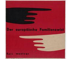 Otl (Otto) Aicher | Der europäische familienzwist,1950 ✭ vintage graphic design album cover // ancienne pochette de disque design graphique