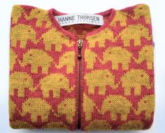Hanne Thorsen. Elephants. 2-6 years. You can buy the sweater, the yarn+pattern for the sweater or only the pattern.