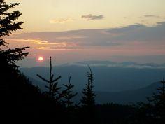 Sunset at Imp Shelter, White Mountains, New Hampshire