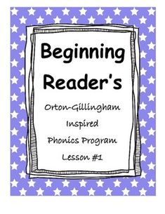 This is the first in a series of phonics lessons that comprise a full phonics program.  This program is based on the Orton-Gillingham methodology for teaching phonics.  It is a systematic sequential direct instruction phonics program.  It includes multi-sensory strategies.  It can be used as a reading intervention or with small reading groups as part of a pre-school, kindergarten, or 1st grade curriculum.