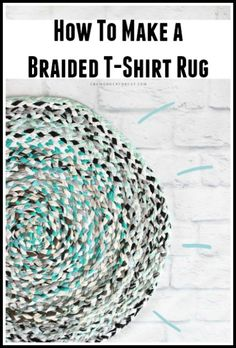 How To Make A Braided T-Shirt Rug (No Sew)