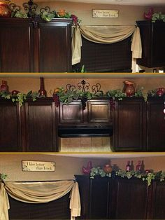 Kitchen Cabinets Decor kitchen cabinets decorations on top |  of kitchens