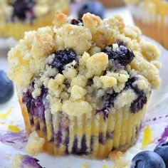 Lemon Blueberry Muffins - OMG Chocolate Desserts