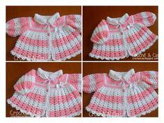 Olá pessoal! Desta vez fiz um casaquinho de lã para meninas. Usei a lã Club, mas achei ela muito grossa para este tipo de trabalho. De qualquer maneira, este foi o resultado:      Fiz a pala básica, c