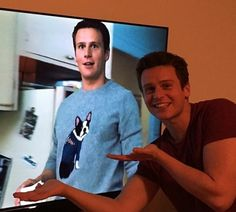 2 X the Jonathan Groff!!  He proudly shows off he awesomely tacky sweater he worn on an episode of Looking!    Jonathan Groff Teaches Straight People about Gay Sex - (10) Image Gallery