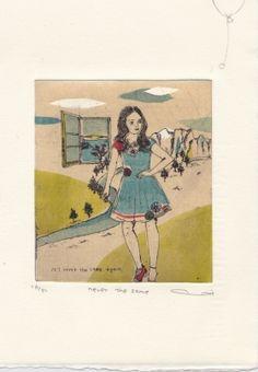 Gravures & Estampes | Atsuko Ishii | Never the same | Tirage d'art en série limitée sur L'oeil ouvert Never The Same, Illustrations, Type, Logos, Artist, Prints, Artwork, Etchings, Open Set