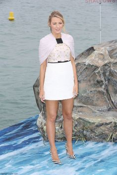 """Blake Lively in Giambattista Valli Couture mini dress at """"The Shallows"""" Photocall during the 69th annual Cannes Film Festival. #cannes #festivaldecannes #blakelively"""