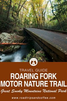 The Roaring Fork Motor Nature Trail is my FAVORITE place to visit in the Great Smoky Mountains National Park. Just minutes from the heart of Gatlinburg, Tennessee it's also one the easiest escapes into the mountains. This travel guide will lay out Tennessee Hiking, Sevierville Tennessee, Tennessee Vacation, Visit Tennessee, Colorado Hiking, Nashville Tennessee, Smoky Mountains Tennessee, Great Smoky Mountains, Gatlinburg Vacation