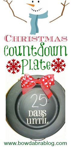 Christmas Countdown Plate tutorial