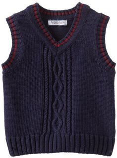 Kitestrings Baby-Boys Infant Cotton Cable Sweater Vest