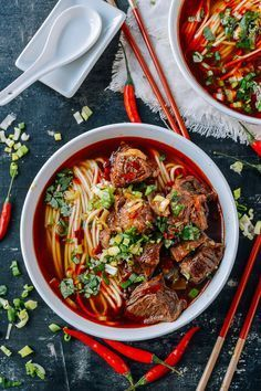 Spicy Beef Noodle Soup | from The Woks Of Life