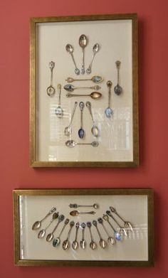 Do you or someone you know collect spoons? If so, bring them to your local custom framer and let their imagination run wild with the collection... Just look at the possibilities!