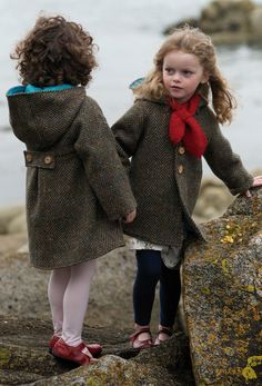 just lovely! Si+Lu Donegal tweed children's coat made by local craftsmen