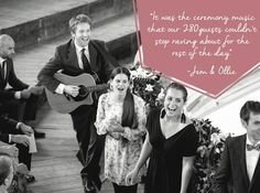 Flash mob ceremony band - love this idea from Hitched Wedding Music