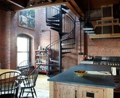 Love the brick word: Rough and strong, but recreated to provide shelter and comfort...the industrial loft.