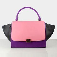 wholesale dealer ef750 d8e5e Celine Trapeze Bag Pink Purple Black