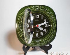 Shop for Vintage modern wall clock on Etsy, the place to express your creativity through the buying and selling of handmade and vintage goods. Kitchen Clocks, Looks Black, Vintage Marketplace, Vintage Ceramic, Alarm Clock, That Way, Quartz, Pottery, Ceramics