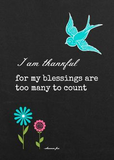 Free Printable: chalkboard blessings, with aqua bird in 5 x 7