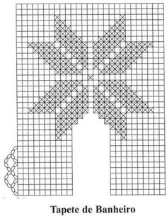 tapetes de croche com gráficos para imprimir - Pesquisa Google Crochet Diy, Crochet Home, Cross Stitch Patterns, Knitting Patterns, Crochet Patterns, Crochet Lace Collar, Crochet Curtains, Diy And Crafts, Tapestry