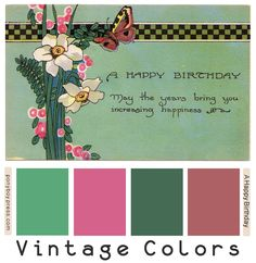 ༺༺༺♥Elles♥Heart♥Loves♥༺༺༺ ............♥Color Charts♥............ #Color #Chart #ColorChart #Inspiration #Design #Moodboard #Paint #Palette #Decorate #Art #Renovate ~ ♥Ponyboy Press - zine maker, design lover, dedicated homebody: vintage color palettes