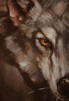 The wolf was sick, he vowed a monk to be. But when he got well, a wolf once more was he. Wolf Painting, Painting & Drawing, Animal Paintings, Animal Drawings, Wolf People, She Wolf, Anime Wolf, Fox Art, Wild Dogs