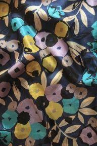 Vintage Silk Pongee, 1960's , Usa. www.charlottebialas.com/eshop. At Charlotte Bialas, 5 Rue Debelleyme, 75003 Paris