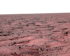 Mars Phoenix Lander Looking across the frozen wastelands of the Martian north.
